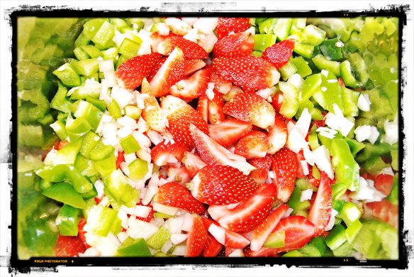 Cold Strawberry Soup Prep