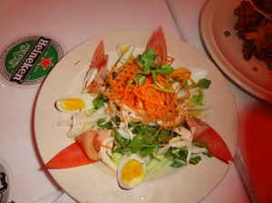 Salad at Indochine Restaurant
