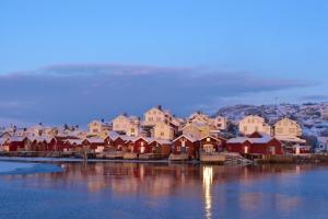Fjällbacka in the winter at Dusk