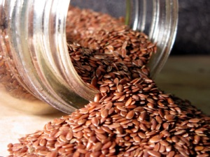 Flax seed, healthy fiber for your colon.