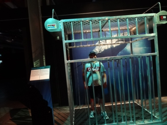 Ben in a Shark Cage