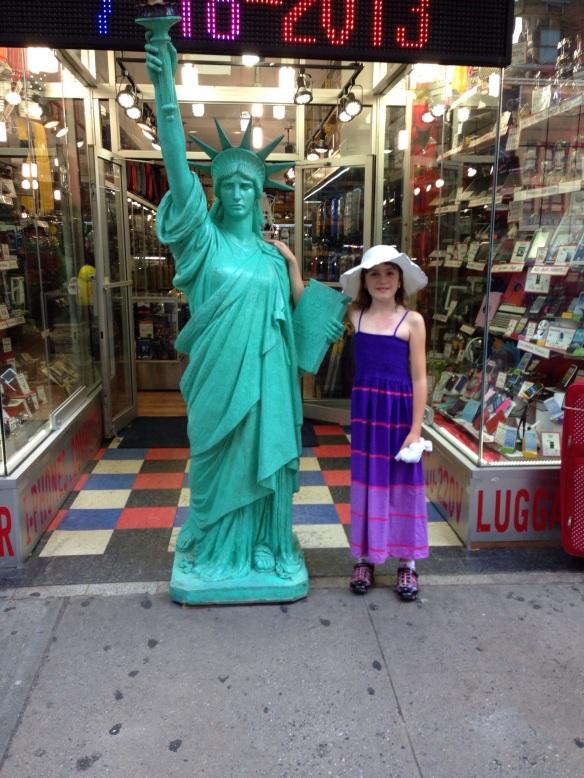 See Lady Liberty at a tourist shop