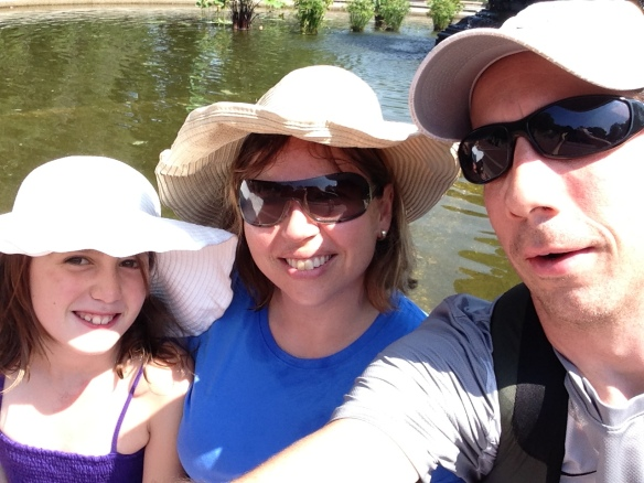 Our family by the pond